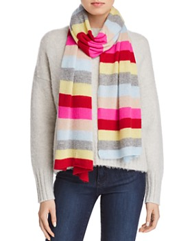 AQUA - Striped Cashmere Scarf - 100% Exclusive