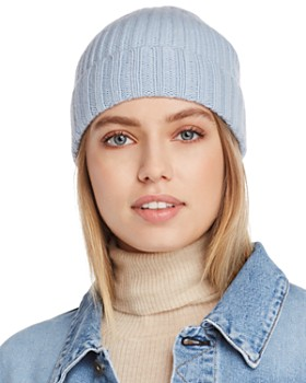 C by Bloomingdale's - Chunky Rib-Knit Cashmere Beanie - 100% Exclusive