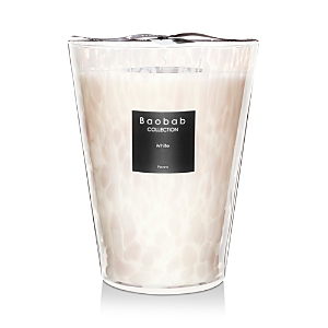 Baobab Collection White Pearls Candle, Max 24