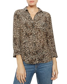 Anine Bing - Billie Leopard Silk Shirt