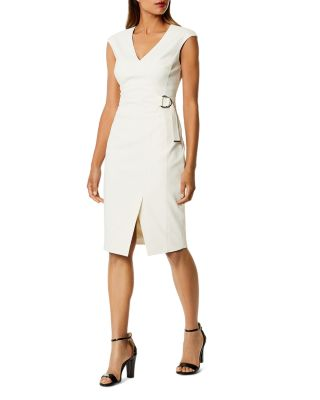 Cap Sleeve Faux Wrap Dress by Karen Millen