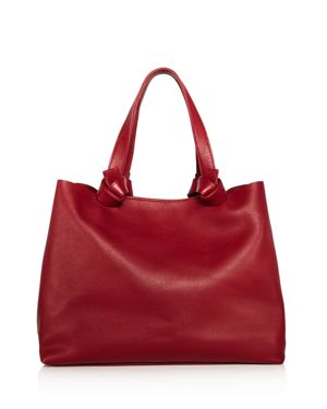 CALLISTA ICONIC KNOTTED MEDIUM LEATHER TOTE