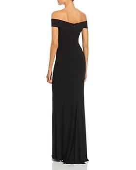 AQUA - Off-the-Shoulder Twist Front Gown - 100% Exclusive