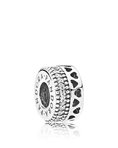 PANDORA Sterling Silver & Cubic Zirconia Hearts of Pandora Charm - Bloomingdale's_0