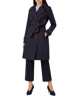 Imogen Piped Trench Coat by Hobbs London