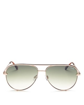 Women's High Key Aviator Sunglasses, 56mm by Quay