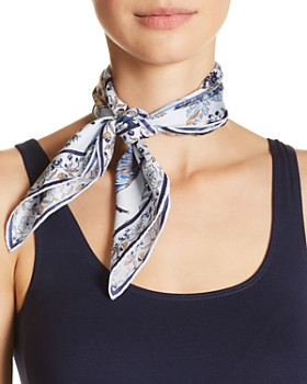 Tory Burch - Happy Times Floral Print Silk Bandana