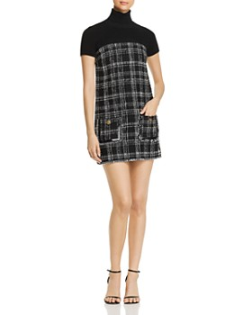 Elisabetta Franchi - Tweed Combo Mini Dress