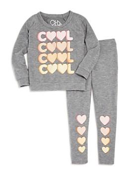 CHASER - Girls' Cool Heart-Print Sweatshirt & Leggings - Little Kid, Big Kid