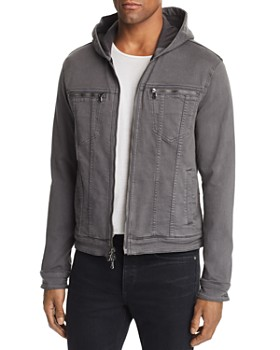 John Varvatos Star USA - Hooded Zip-Front Knit Jacket