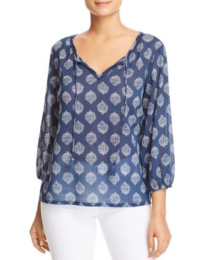 TOMMY BAHAMA TRES FLORA PEASANT TOP