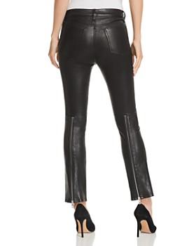 rag & bone/JEAN - Braxton Cropped Flared Leather Pants