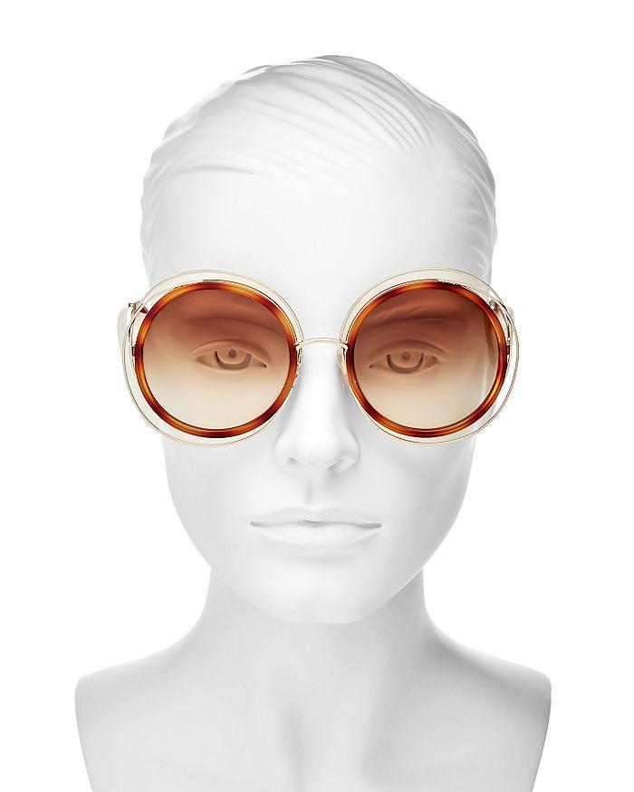6dfda1a8580f Chloé Women's Carlina Oversized Round Sunglasses, 58mm | Bloomingdale's