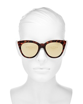 Le Specs - Women's Halfmoon Magic Mirrored Cat Eye Sunglasses, 53mm