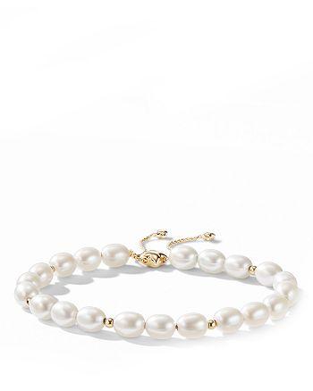 David Yurman - Bijoux Spiritual Beads Bracelet with Pearls and 18K Gold