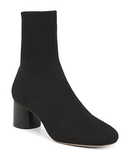 Vince - Women's Tasha Round-Toe Mid-Heel Knit Booties