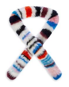 Charlotte Simone - Chunky Monkey Striped Fox-Fur Scarf