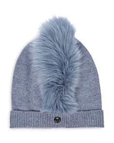 Charlotte Simone - Mo Mohawk Fox Fur-Trim Cashmere Beanie