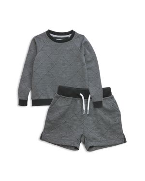 Sovereign Code Boys' Basketweave Print Sweatshirt & Sweatshorts Set - Baby
