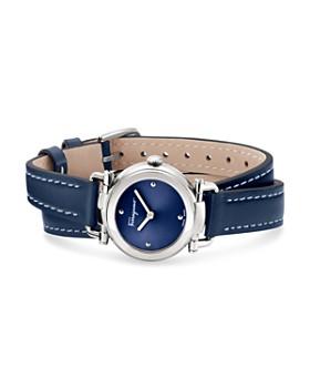 Salvatore Ferragamo - Gancino Casual Blue Leather Watch, 26mm