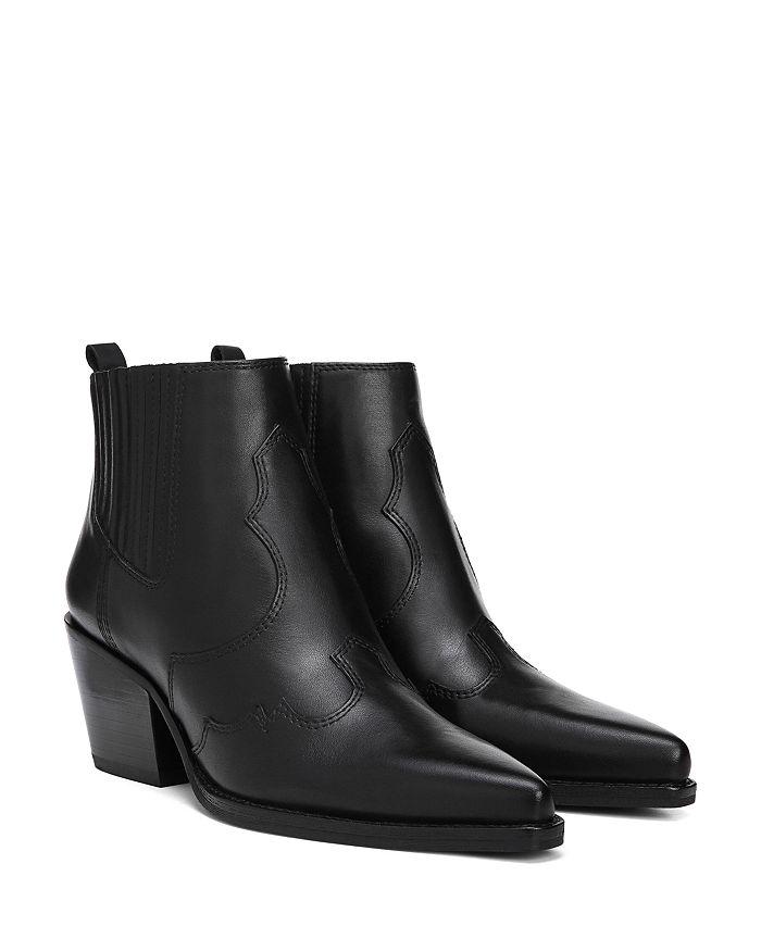 1c15395cf Sam Edelman Women s Winona Pointed-Toe Mid-Heel Leather Booties ...