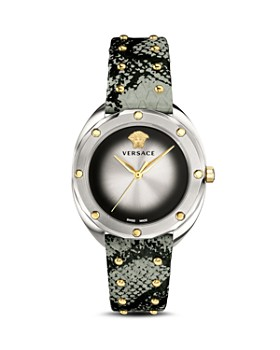 Versace Collection - Shadov Green Snakeskin Watch, 38mm