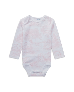 Ralph Lauren Girls ToilePrint Cotton Bodysuit  Baby