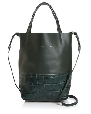 ALICE.D Small Croc-Embossed Leather Tote - 100% Exclusive in Green