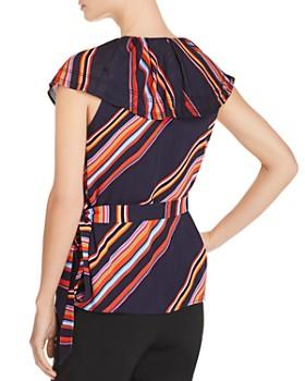 Tory Burch - Adelia Striped Wrap Top