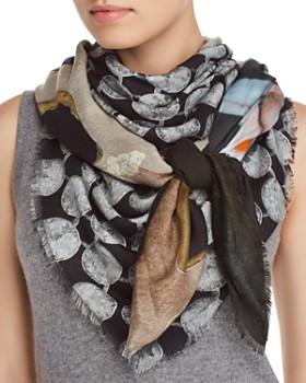 Larioseta - Geo Floral Patchwork-Print Scarf