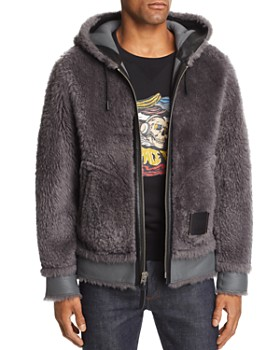 COACH - Reversible Shearling Hooded Jacket