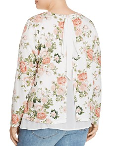 B Collection by Bobeau Curvy - Floral Overlay Top