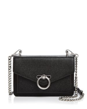 REBECCA MINKOFF Jean Leather Crossbody Bag - Black