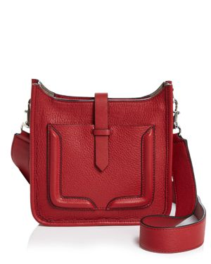 Feed Mini Leather Crossbody, Scarlet Red/Silver