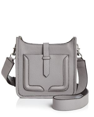 Feed Mini Leather Crossbody, Grey Gray/Silver