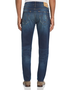 True Religion - Rocco Slim Fit Jeans in Worn Carbon