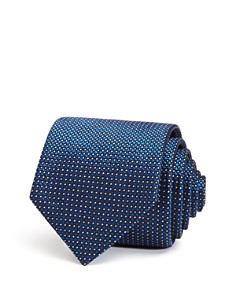Emporio Armani Textured-Dot Classic Silk Tie - Bloomingdale's_0