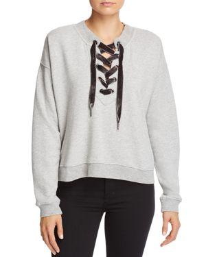 Ryan Lace-Up Sweatshirt, Heather Gray