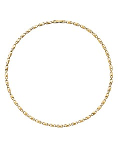 """Michael Kors - Mercer Small Link Sterling Silver Necklace in 14K Gold-Plated Sterling Silver, 14K Rose Gold-Plated Sterling Silver or Solid Sterling Silver, 16"""""""