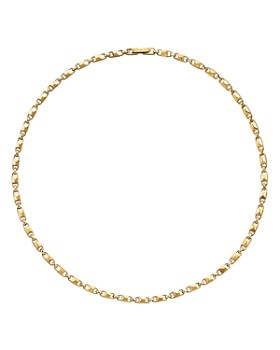 de9ad8445d84 Michael Kors - Mercer Small Link Sterling Silver Necklace in 14K Gold-Plated  Sterling Silver ...