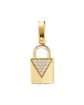 Michael Kors - Custom Kors 14K Gold-Plated Sterling Silver Padlock Charm