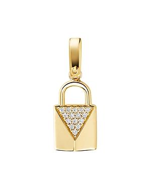 Michael Kors Custom Kors 14K Gold-Plated Sterling Silver Padlock Charm