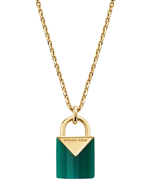 Michael Kors Padlock Pendant Necklace, 16