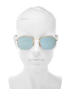 Ray-Ban - Unisex Icons Mirrored Hexagonal Sunglasses, 54mm