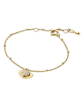 Michael Kors - Kors Love Pavé Heart Sterling Silver Bracelet in 14K Gold-Plated Sterling Silver, 14K Rose Gold-Plated Sterling Silver or Solid Sterling Silver