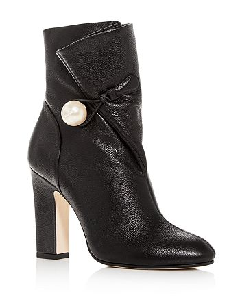 55bd60df55fc Jimmy Choo Women s Bethanie 85 Leather High-Heel Booties ...