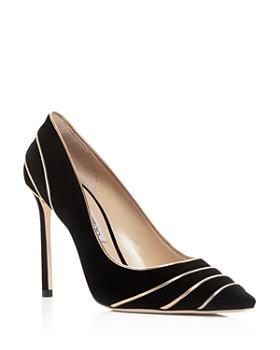 Jimmy Choo - Women's Romy 100 Suede & Metallic Leather High-Heel Pointed Toe Pumps