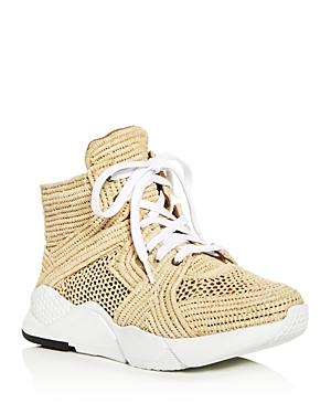 Robert Clergerie Women's Sybille Raffia High Top Platform Sneakers