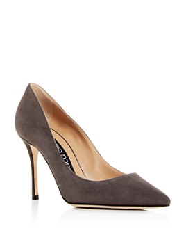 Sergio Rossi - Women's Suede Pointed Toe Pumps