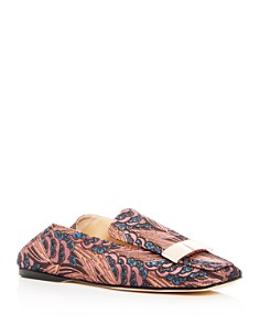 Sergio Rossi - Women's Jacquard Loafers